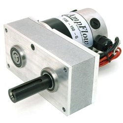 The AmpFlow speed reducer is a heavy-duty, low-cost, gearhead that works with any of the three-inch diameter AmpFlow motors.